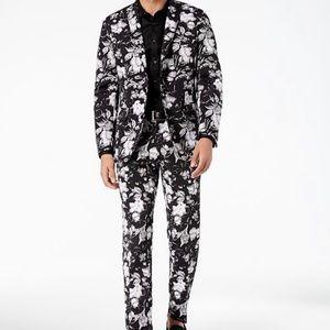 INC Floral Suit Jacket M Pants 34x30